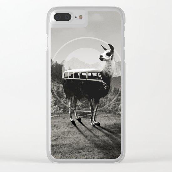 Llama B&W Clear iPhone Case