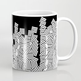 Black and white pattern geometric Coffee Mug