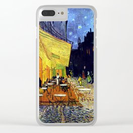 Cafe Terrace at Night Clear iPhone Case