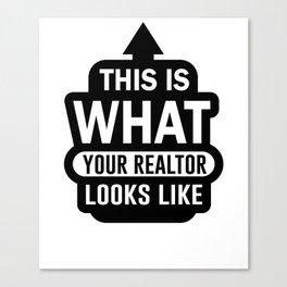 Realtor Seller Agent Real Estate Salesperson Canvas Print
