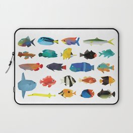 Tropical Fish chart Laptop Sleeve