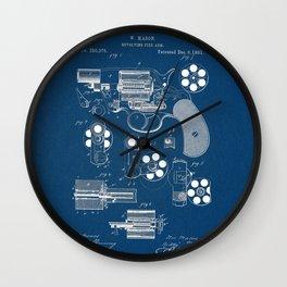 Revolver blue Patent Wall Clock