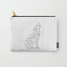 Geometric Wolf Carry-All Pouch