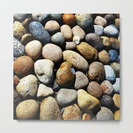 Beach town rocks Metal Print