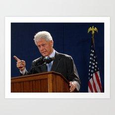 Bill Clinton Art Print