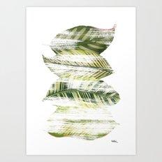 Brushed leaves Art Print