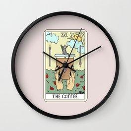 COFFEE READING Wall Clock