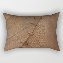 Bark Texture, Palm Bark, Primitive Rectangular Pillow