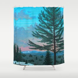VT Cabin View Shower Curtain