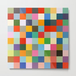 Haumea - Abstract Colorful Pixel Patchwork Art Metal Print