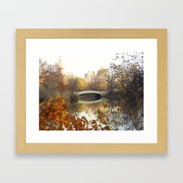 Bow Bridge Central Park in Fall Framed Art Print