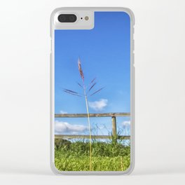 Grass in the country Clear iPhone Case