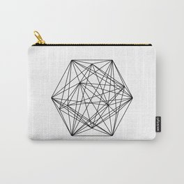 Geometric Crystal - Black and white geometric abstract design Carry-All Pouch