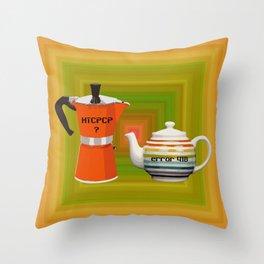 """Error 418 """"I'm a Teapot"""" Throw Pillow"""