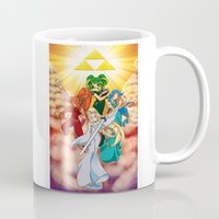 hyrule Mugs featuring Four Goddess of Hyrule by Jeffrey Carrion