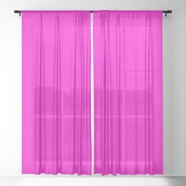 Pink neon color bright summer Sheer Curtain
