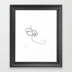 Midnight Bull Framed Art Print