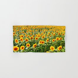 Field of Sunny Flowers Hand & Bath Towel