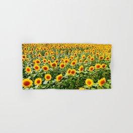Field of Sunny Flowers Hand & Bath Towel