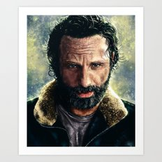 The Walking Dead - Rick Grimes Art Print