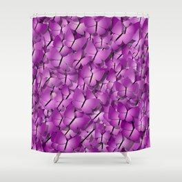pink magenta butterflies Shower Curtain