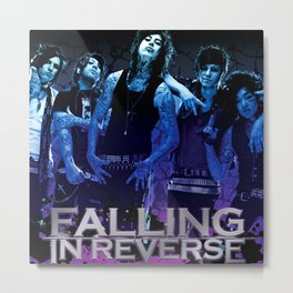 falling in reverse personel crew tour 2020 ngapril Metal Print
