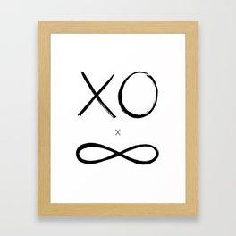 XO times Infinity Framed Art Print