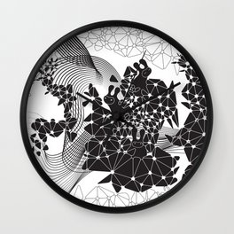 Geometric Nature Garden Wall Clock