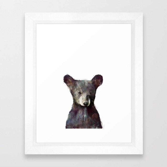 Little Bear Framed Art Print by amyhamilton   Society6
