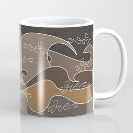 Waves V earth colors V Duffle Bags Coffee Mug