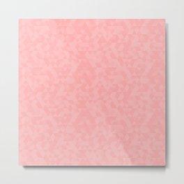 Pastel Millennial Pink Geometric Pattern Metal Print