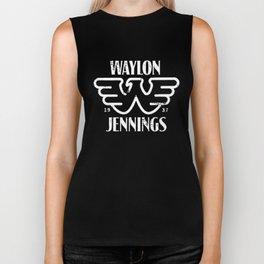 WAYLON JENNINGS EST TEXAS COUNTRY MUSIC BAND GUITAR CLASSIC BLACK texas Biker Tank