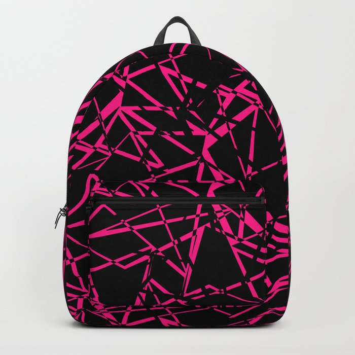 Abstract geometric black and Burgundy pattern . Backpack