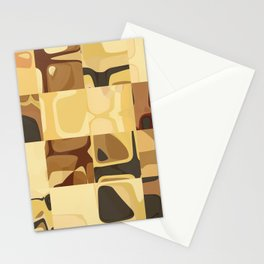 Mid Century Modern Pattern Geometric Art by Michel Keck Stationery Cards
