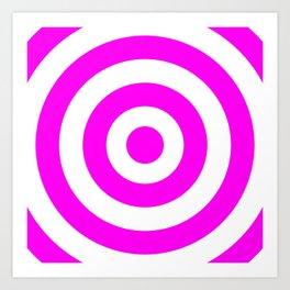 Target (Magenta & White Pattern) Art Print