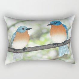 eastern bluebirds and bokeh Rectangular Pillow