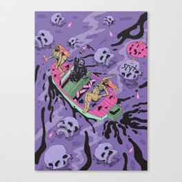 Party on the river Styx Canvas Print