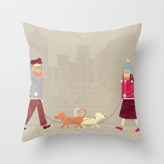 Dog People Throw Pillow
