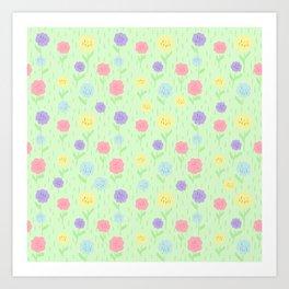 flowerpastel Art Print