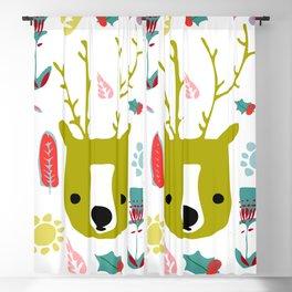 cute Christmas deer Blackout Curtain