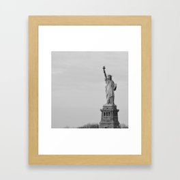 Lady Liberty Stands Framed Art Print