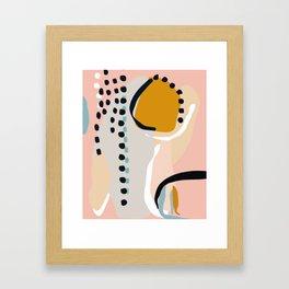 modern abstract Framed Art Print