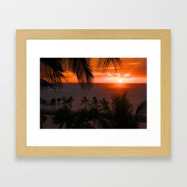 Anaeho'omalu Bay Waikoloa, Hawaii Sunset Framed Art Print