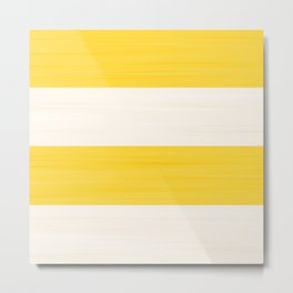Brush Stroke Stripes: Orange Creamsicle Metal Print