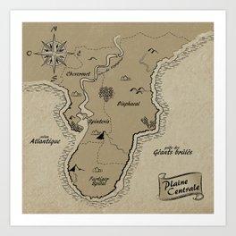 Mythos : Carte de la Pointe Australe Art Print