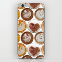 Latte Polka Dots in White iPhone Skin