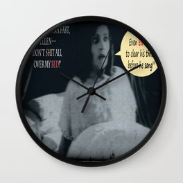 "'Ellen Hutter', FROM THE FILM "" Nosferatu vs. Father Pipecock & Sister Funk (2014)"" Wall Clock"