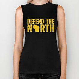 Defend the North Green Bay Yellow and Green Wisconsin Biker Tank
