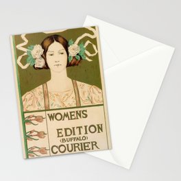 1895 Buffalo Courier for women  New York Stationery Cards