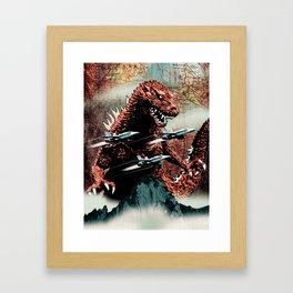 Godzilla Cover Art G-Fan Magazine Framed Art Print